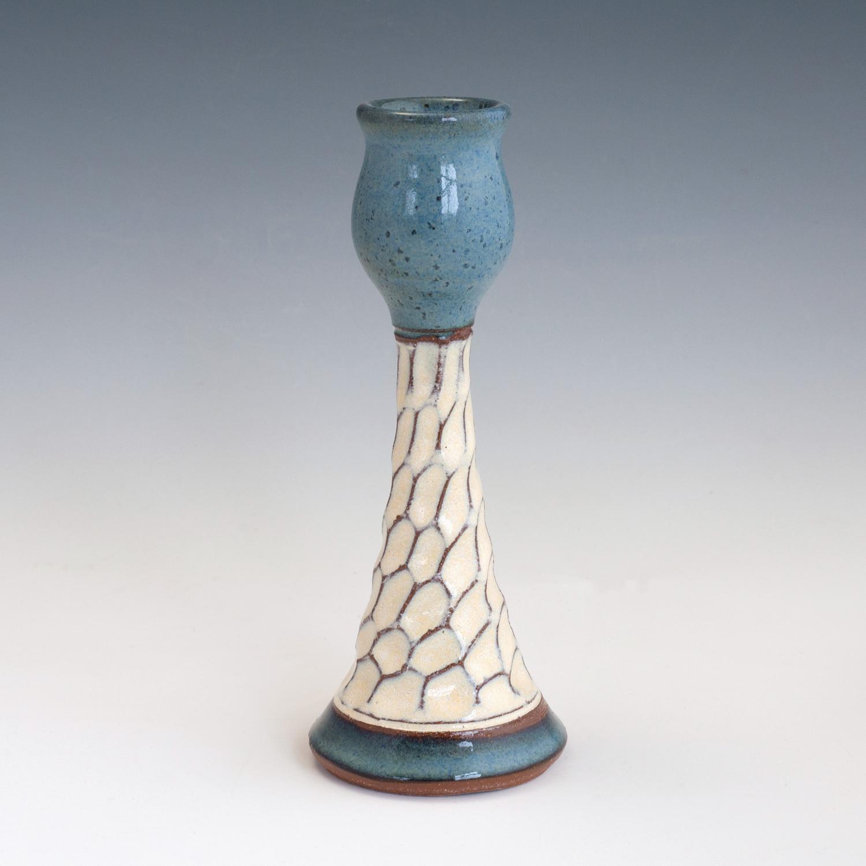 blue-carved-candlestick