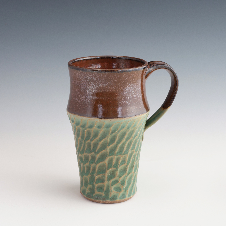 green-carved-tall-mug